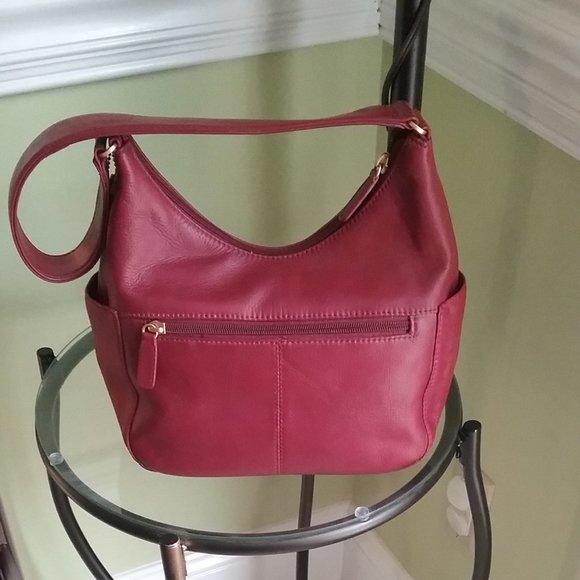 St. John's Bay Handbags - St. John's Bay Leather Hobo Shoulder Bag